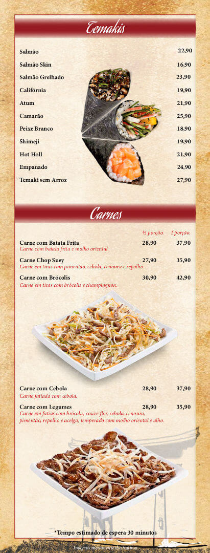Cardápio Sushi do Carmo - 10-2020